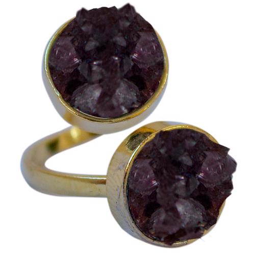 Amethyst   Dual Rings