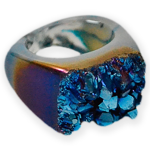 Blue Coated Ring | Coated Rings