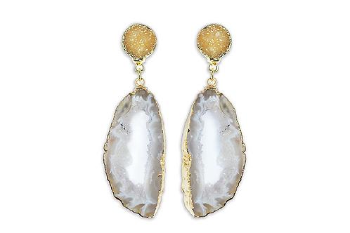 Geode | Double Dropper Earrings