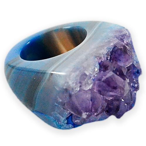 Dyed Amethyst   Druzy Rings