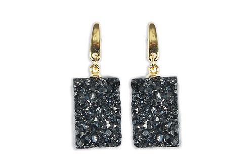 Agate Druzy | Fancy Dropper Earrings