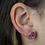 Thumbnail: Pink Geode   Geode Stud Earrings