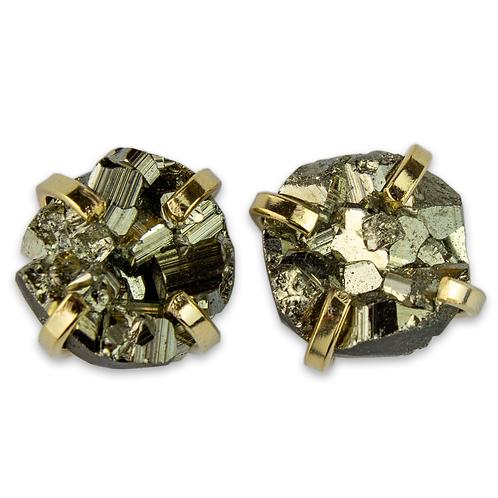 Pyrite | Fancy Claw Stud Earrings