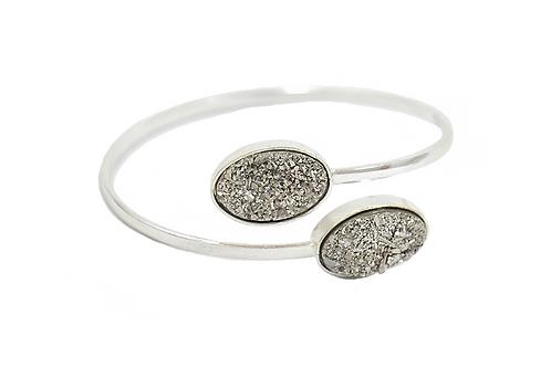 Coated Druzy | Dual Bracelet