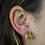 Thumbnail: Citrine   Gem Stud Earrings