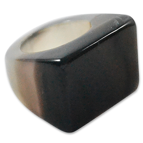 Black Agate   Polished Rings