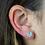 Thumbnail: White Geode   Geode Stud Earrings