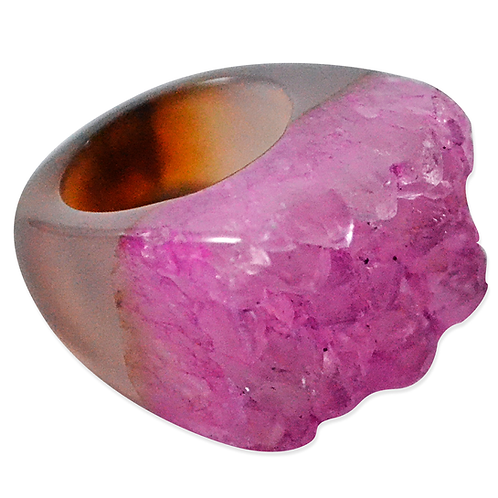 Pink High Druzy | Druzy Rings