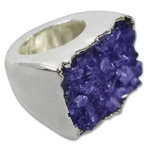 Blue Agate Druzy | Body Plated Rings