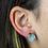 Thumbnail: Aquamarine   Gem Stud Earrings