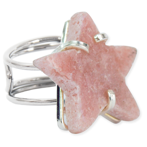 Pink Amethyst (Star) | Wire Ring