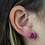 Thumbnail: Pink Druzy   Druzy Stud Earrings
