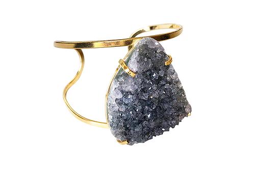 Agate Druzy | Arc Bracelet