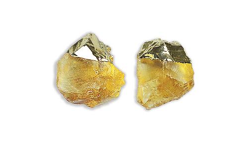 Citrine   Gem Stud Earrings