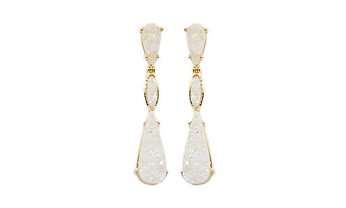 Triple Druzy | Fancy Dropper Earrings