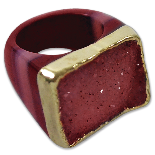 Red Ring | Crown Plated Rings