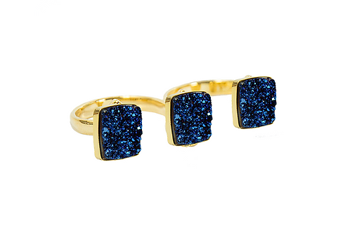 Triple Coated Druzy | Electroplated Rings