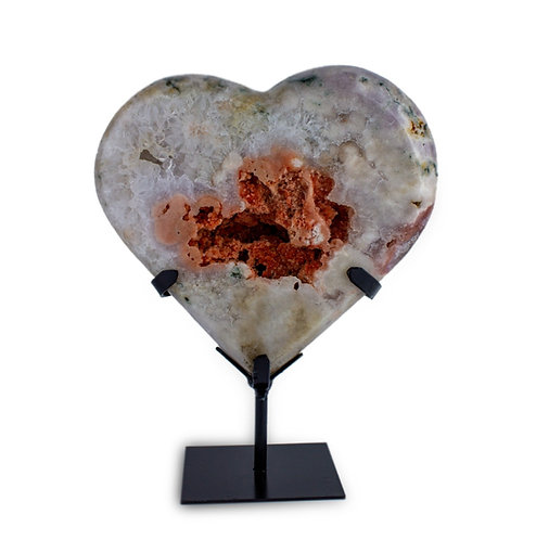 Hearts on Metal Stands | Pink Amethyst