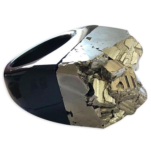 Pyrite Ring | Agate Base Rings
