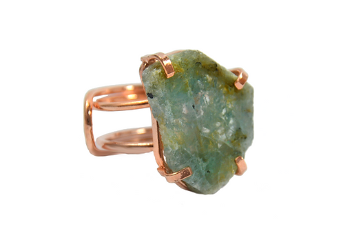 Green Tourmaline | Wire Ring