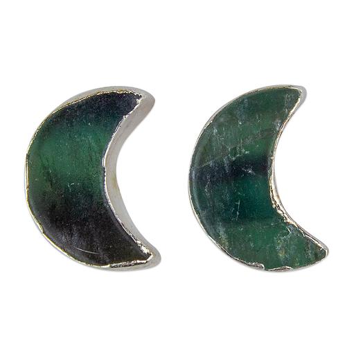 Fluorite | Shaped Stone Stud Earrings
