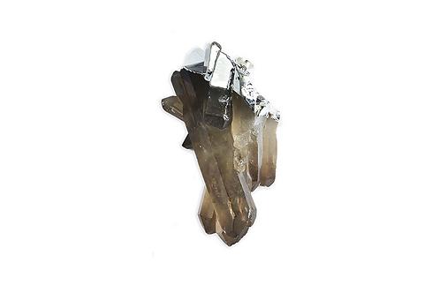 Smoky Crystal Cluster | Raw Pendants