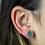 Thumbnail: Teal Geode   Geode Stud Earrings