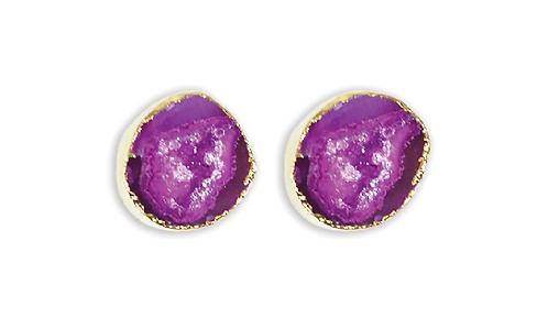 Pink Geode   Geode Stud Earrings