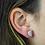 Thumbnail: Moon Druzy   Shaped Druzy Stud Earrings
