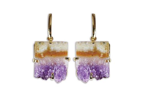 Amethyst Slice | Fancy Dropper Earrings