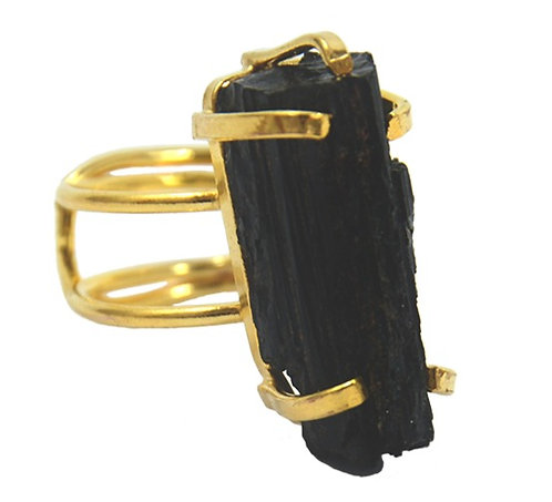 Black Tourmaline | Wire Ring