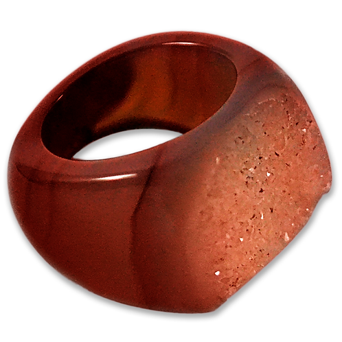 Dark Red Druzy | Druzy Rings