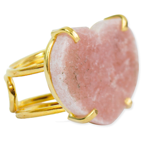 Pink Amethyst (Heart)   Wire Ring