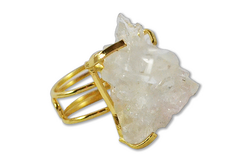Crystal | Wire Ring