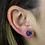 Thumbnail: Circle   Amethyst Druzy Stud Earrings