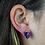 Thumbnail: Amethyst   Gem Stud Earrings