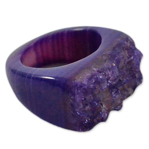 Purple High Druzy | Druzy Rings