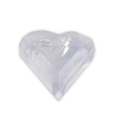Polished Crystal Quartz Heart   Minerals