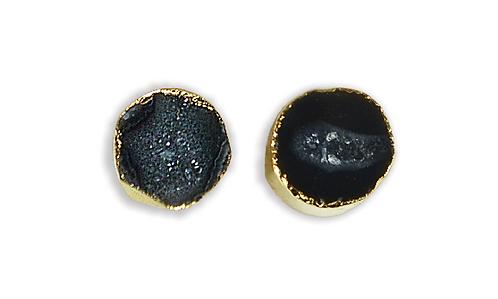 Black Geode   Geode Stud Earrings