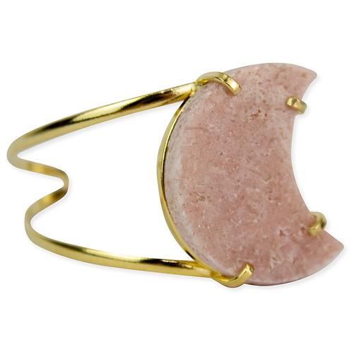 Pink Amethyst (Moon)   Wire Brecelets