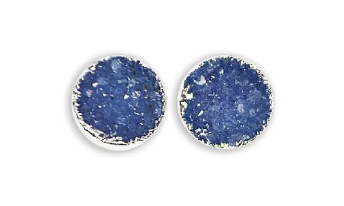Blue Druzy   Druzy Stud Earrings