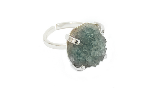 Agate Druzy | Simple Band Ring