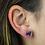 Thumbnail: Heart   Amethyst Druzy Stud Earrings