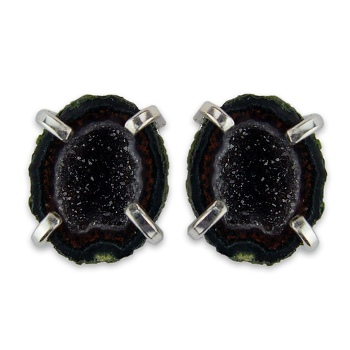 Mexican Geode   Fancy Claw Stud Ea