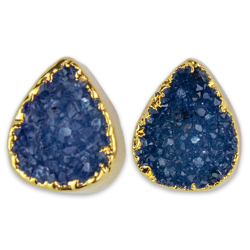 Drop Druzy | Shaped Druzy Stud Earrings