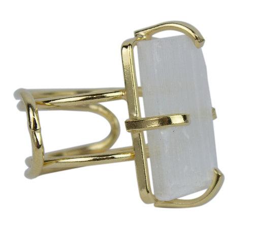 Selenite   Wire Ring