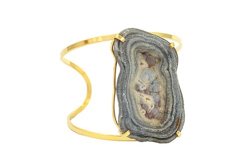 Druzy Shell | Arc Bracelet
