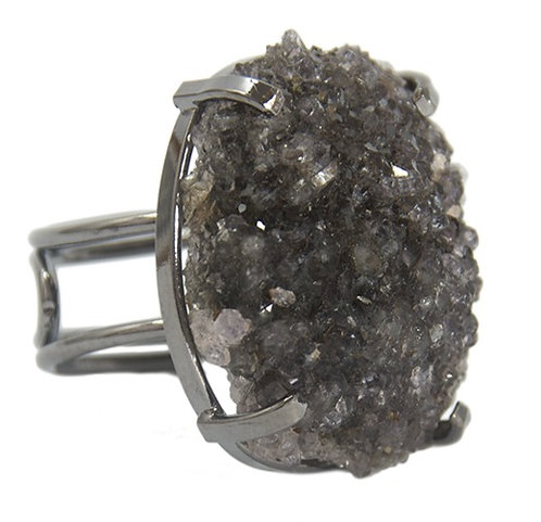 Agate Druzy | Wire Ring