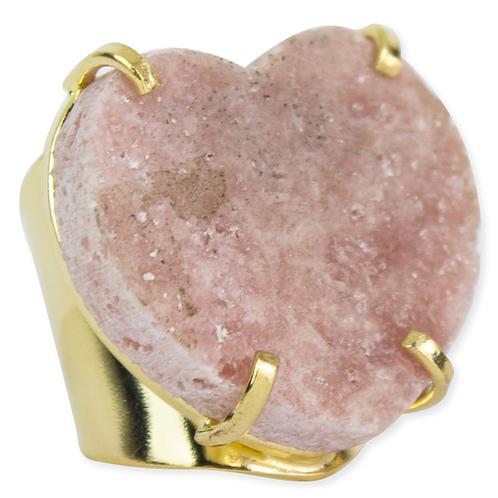 Pink Amethyst (Hearts) | Cuff Ring
