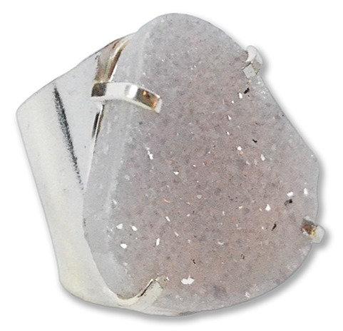 Agate Druzy   Cuff Ring